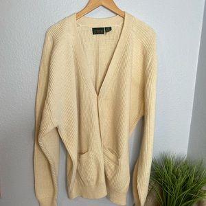 "J Crew Vintage 1990""a cream button cardigan"